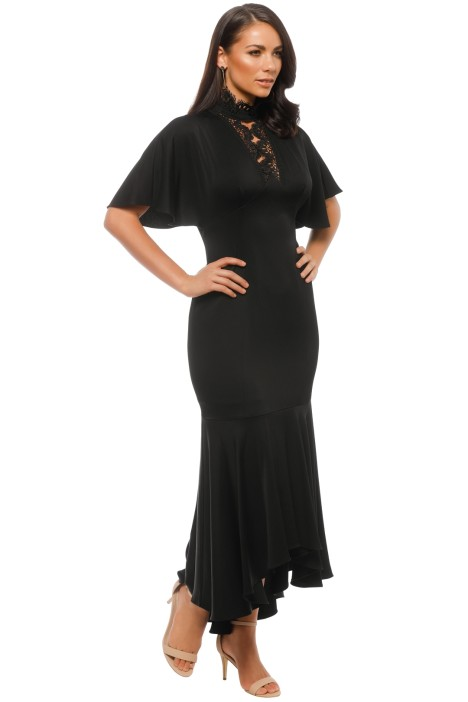 Darnawa Gown in Black by Shoshanna for Hire | GlamCorner