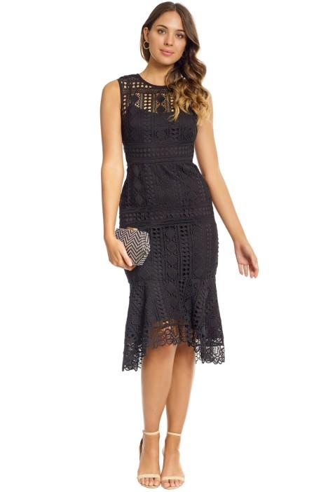 Shoshanna - Noe Dress - Front - Black