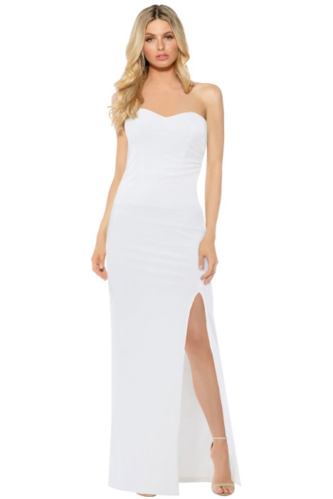 Skiva - Strapless Evening Dress White - Front