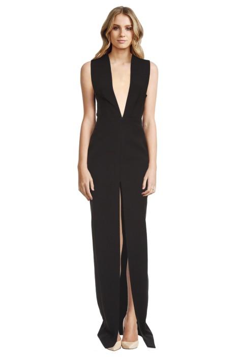 Solace London - Cassi Crepe Dress - Black - Front