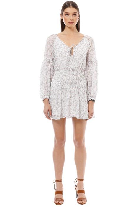 Stevie May - Kaline LS Mini Dress - White - Front