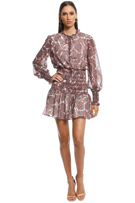 Stevie May - Persian Chic Mini Dress - Brown - Front