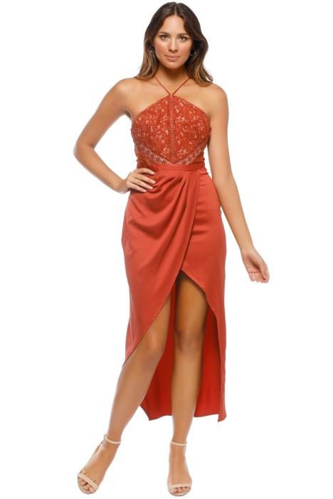 Stylestalker - Laylor Maxi Dress - Burnt Orange - Front