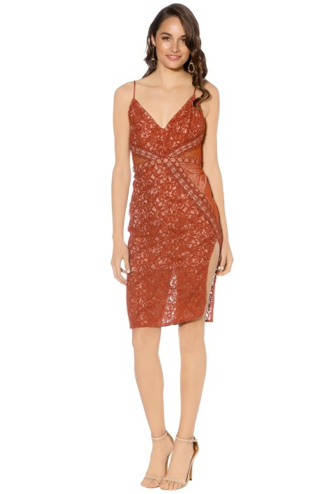 Stylestalker - Laylor Midi Dress - Orange - Front