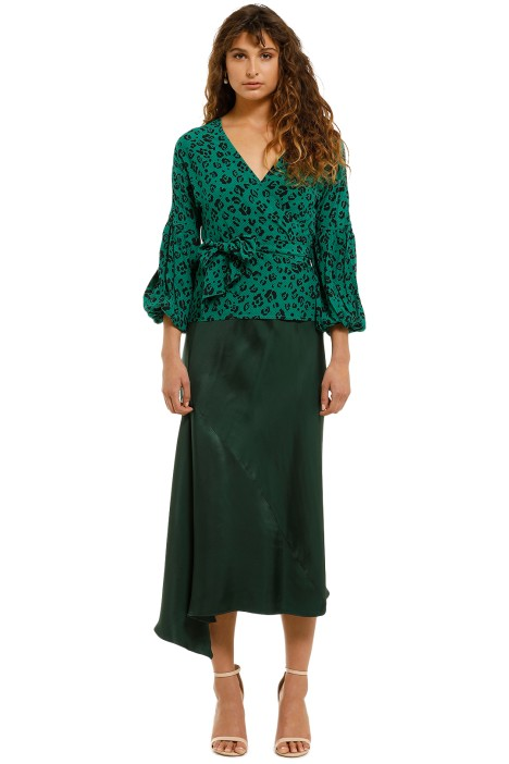 Suboo-Leopard-Lights-Wrap-Long-Sleeve-Top-Green-Front