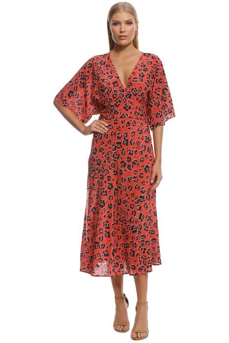Suboo - Zanzibar Belted Midi Dress - Red - Front
