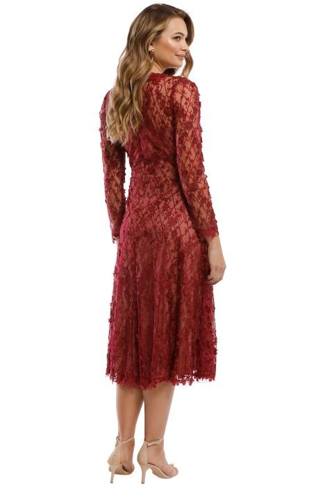 53fa6a84f209 Binx Embroidery Tea-Length Dress by Tadashi Shoji for Rent | GlamCorner
