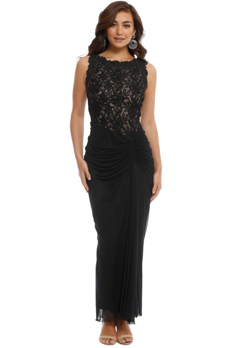 bc53f4e5634 Draped Lace Gown- Black by Tadashi Shoji for Hire