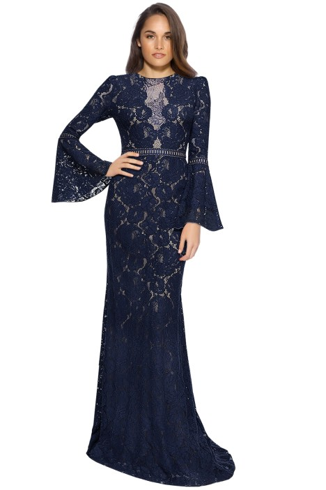 Tadashi Shoji  - Oliver Gown - Navy Nude - Front