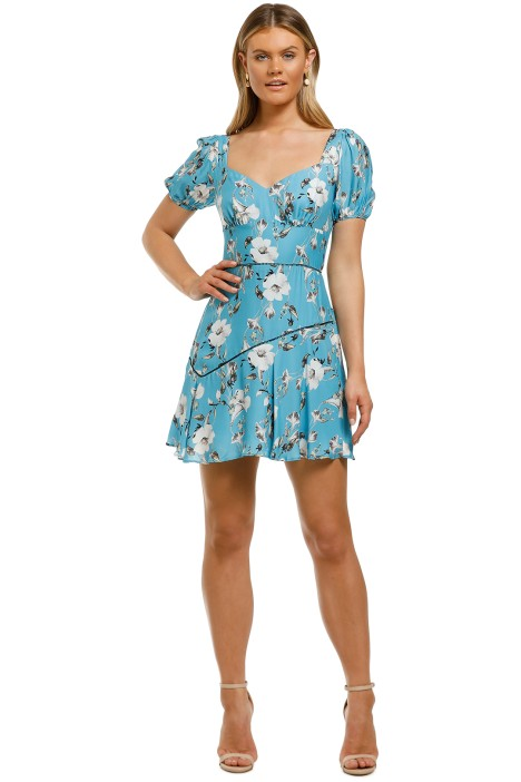 Talulah-Cannes-Mini-Dress-Blue-Valentine-Floral-Front