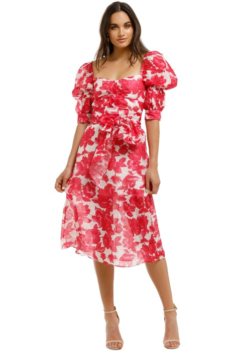Talulah-Martini-Midi-Dress-Raspberry-Martini-Floral-Front