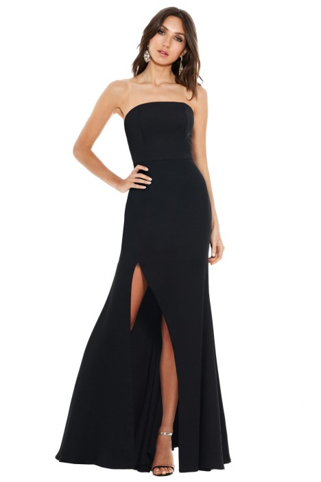 Talulah - Bias Gown - Black - Front