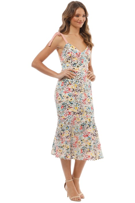 0993e276b482 Talulah - Bittersweet Flounce Midi Dress - Multi - Side