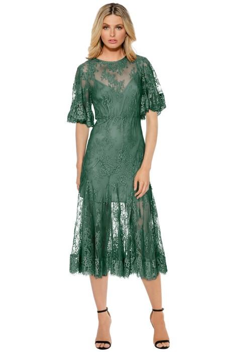 Talulah - Blind Love Midi Dress - Kale - Front