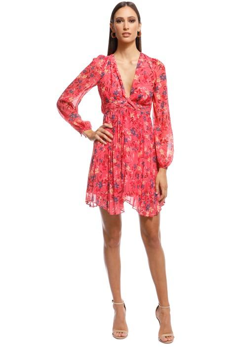 Talulah - Daze LS Mini Dress - Pink - Front