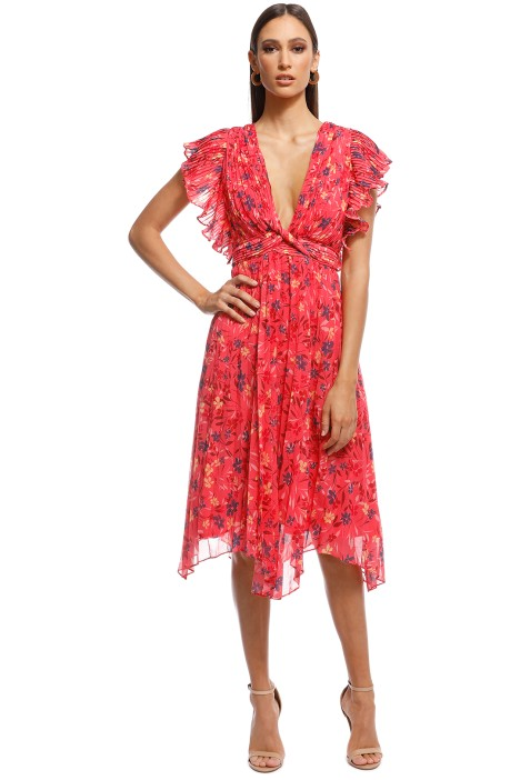 Talulah - Daze Midi Dress - Pink - Front
