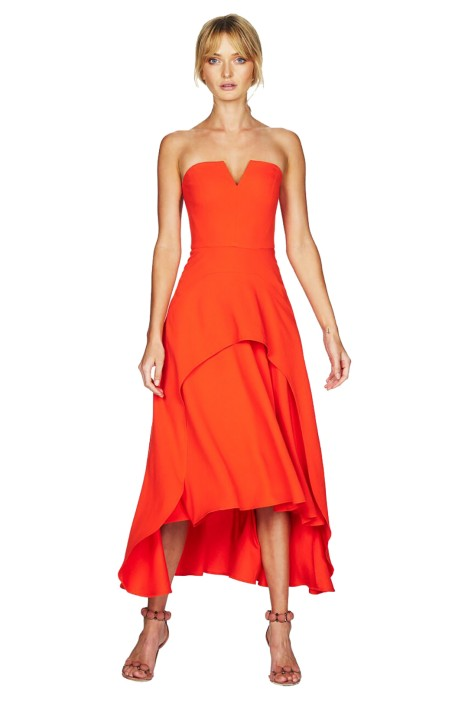 Talulah - Falls Full Strapless Midi Dress - Front