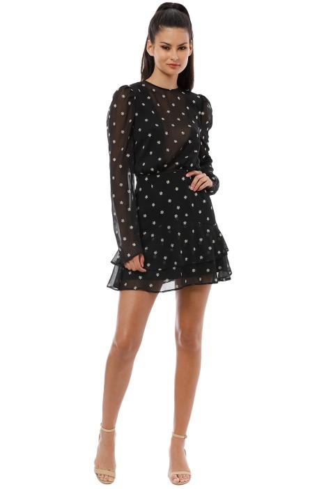 Talulah - Heart of Fire LS Mini Dress - Black - Front