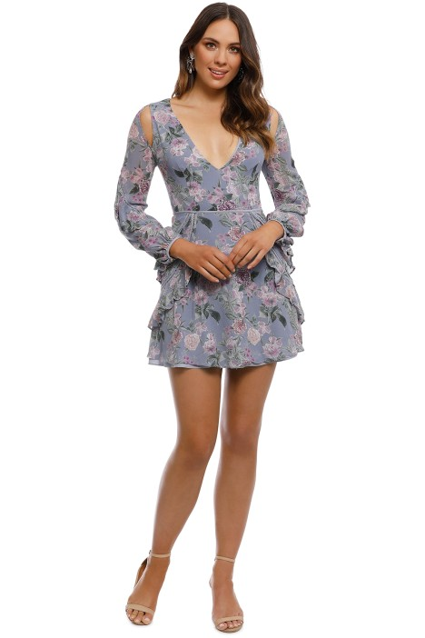 Talulah - Here And Now Mini Dress - Blue - Front