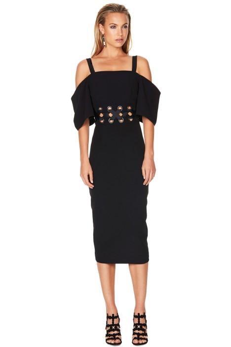Talulah - Lace Me Midi Dress - Black - Front