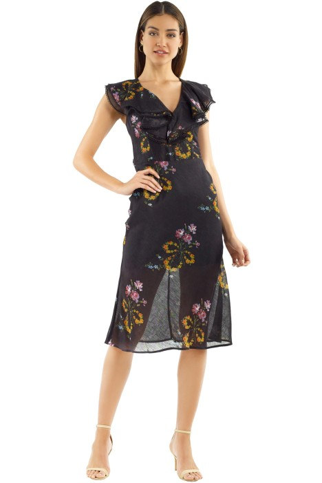 Talulah - Lullaby Midi Dress - Dobby Print - Front