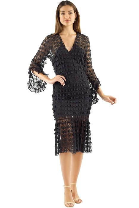 Talulah - Mellifluous Midi Dress - Black - Front