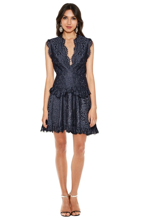 Talulah - Midnight Dream Mini Dress - Dust Navy - Front