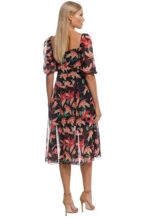 22c7e778bde Talulah - Night Mirage Midi Dress - Black Floral - Back