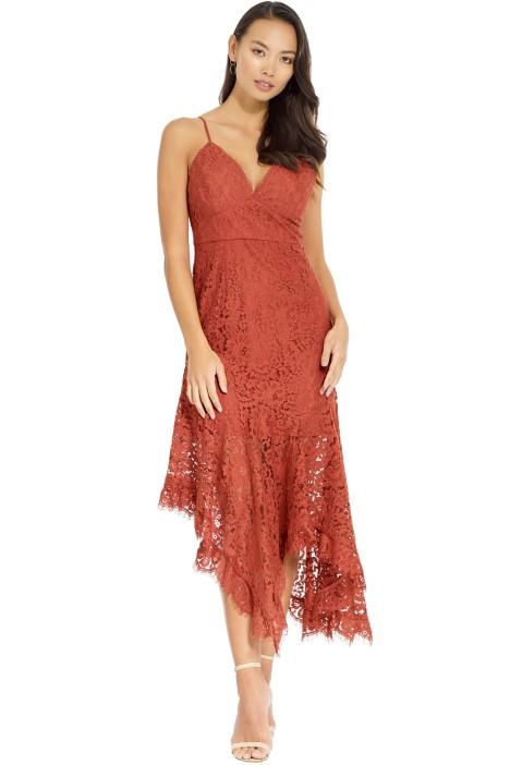3505ac27238 Talulah - Provoke Midi Dress - Terracotta - Front