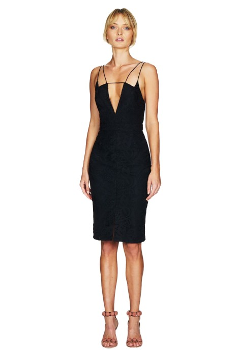 Talulah - Smokey Midi Dress - Black - Front