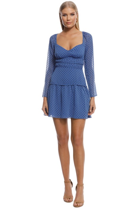 Talulah - Sorrento Mini Dress - Blue - Front