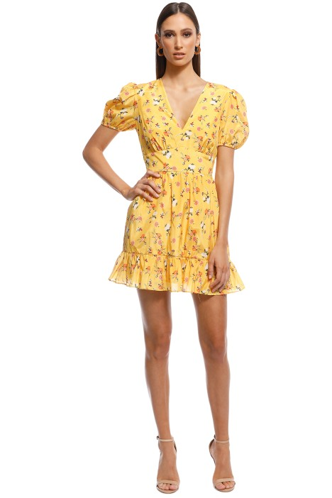 Talulah - Tansy Mini Dress - Yellow - Front