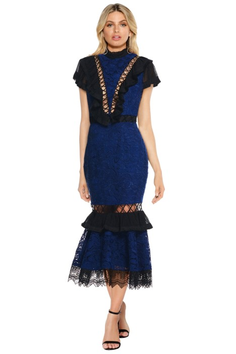 Talulah - The Trial Midi Dress - Navy - Front