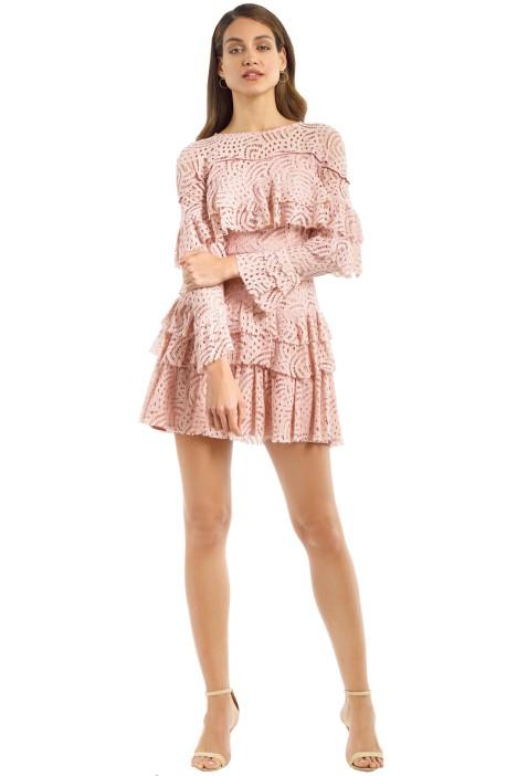 Talulah - Valencia Rose LS Mini Dress - Blush - Front