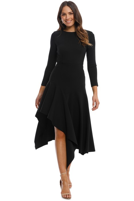 Talulah - Wonder LS Midi Dress - Black - Front