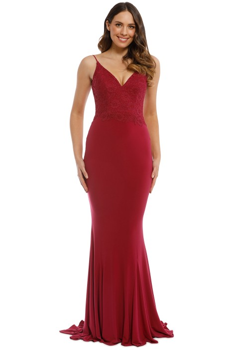 Tania Olsen - Liana Gown - Berry - Front