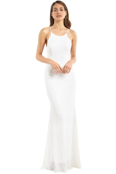 980ebda3909a Sadie Sequin Gown in Vintage White by Tania Olsen for Hire | GlamCorner