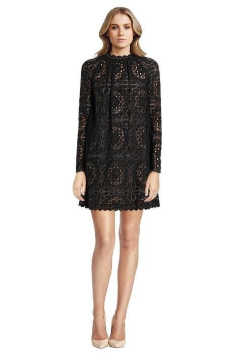 Temperley London - Nomi Crocheted Lace Mini Dress - Black - Front