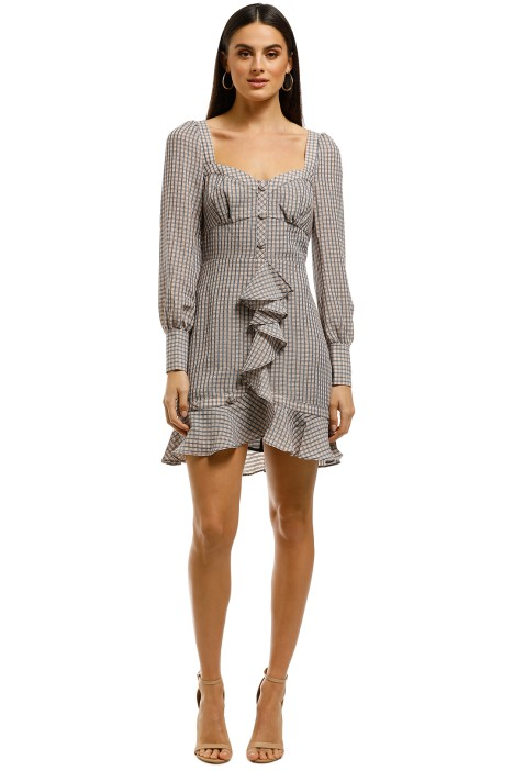The-East-Order-Freya-Mini-Dress-Plaid-Clubhouse-Front