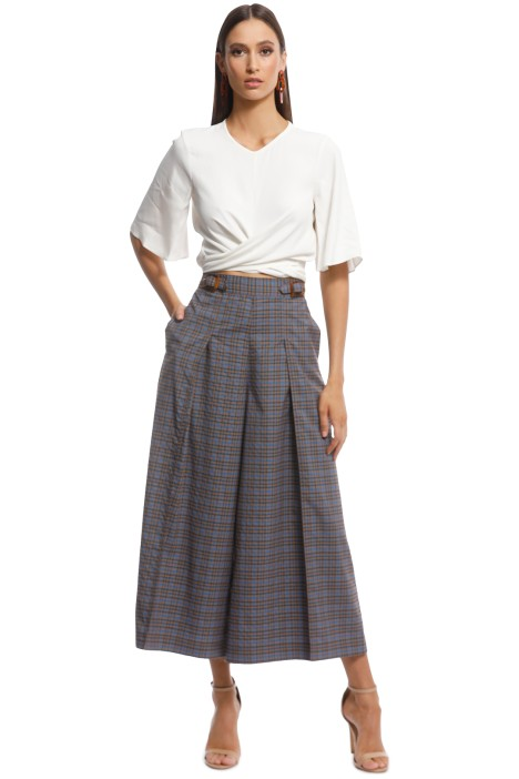 The East Order - Melody Pant - Blue Check - Front