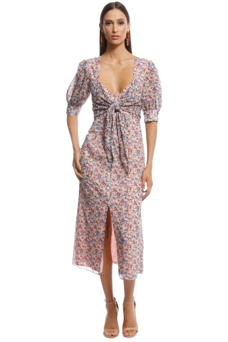 The East Order - Sophie Midi Dress - Blush Floral - Front