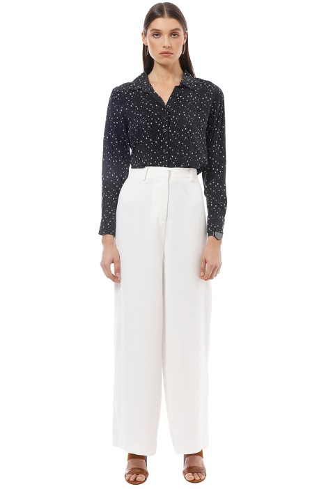 The Fable - Starry Starry Night Blouse - Black -  Front