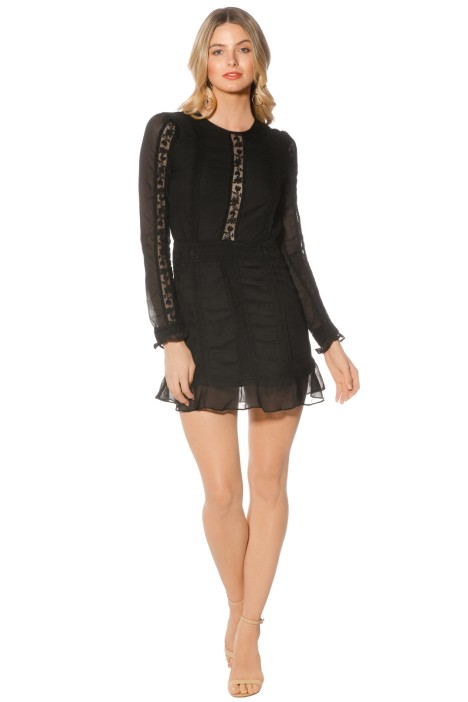 The Jetset Diaries - Amorie Mini Dress - Black - Front