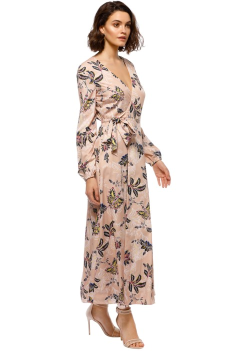 80b1b8b465fb The Jetset Diaries - Azalea Midi Dress - Blush Floral - Side