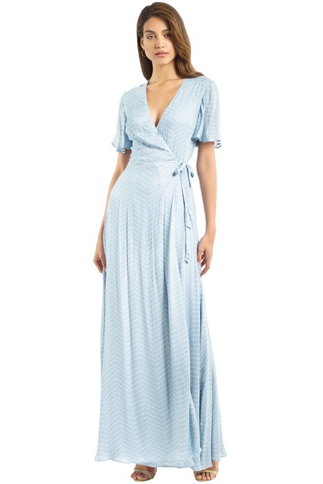 The Jetset Diaries - Mohea Maxi Wrap Dress - Sterling Blue - Front
