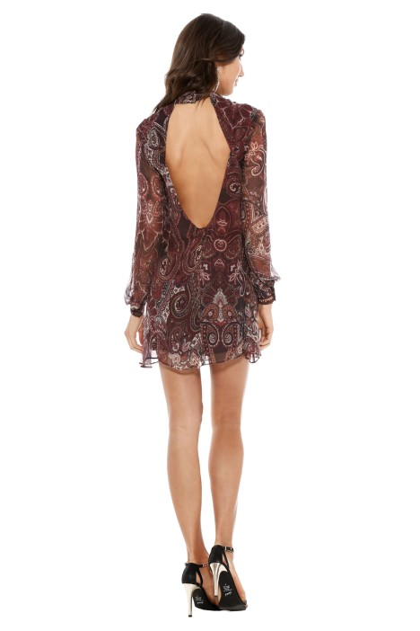 The Jetset Diaries - Labyrinth Paisley Mini Dress - Back