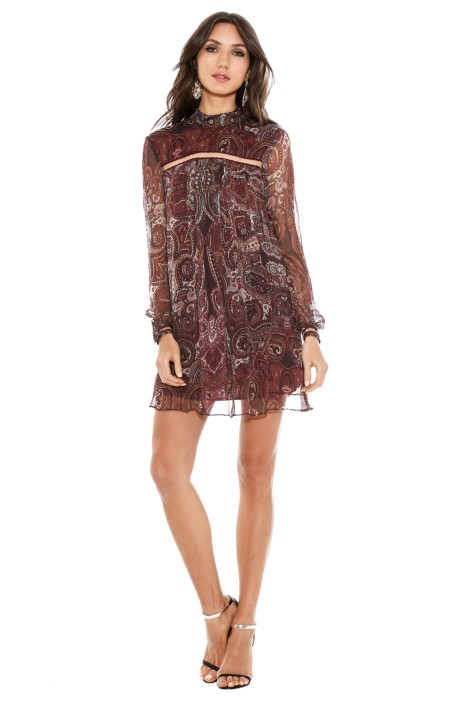 The Jetset Diaries - Labyrinth Paisley Mini Dress - Front