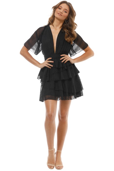 The Jetset Diaries - Twiggy Mini Dress - Black - Front