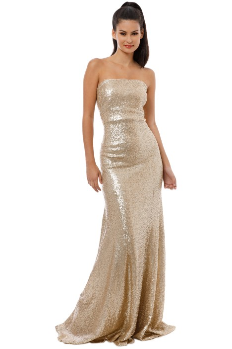 Theia - Gigi Gown - Matte Gold - Front