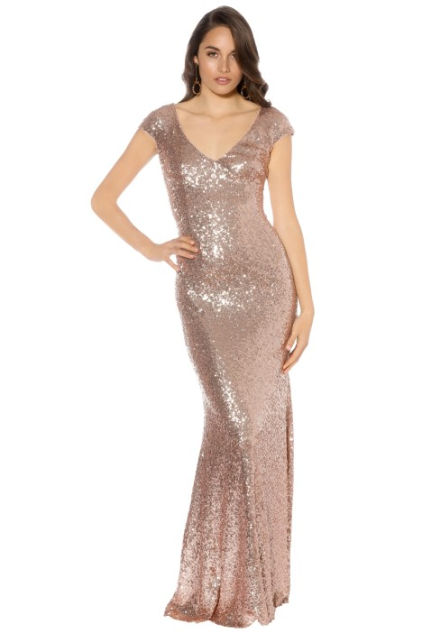 Theia - Kaylee Gown - Rose Gold - Front